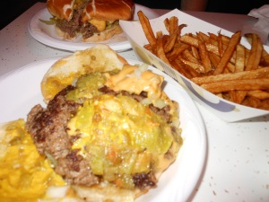 Best Green Chile Cheeseburger ever!